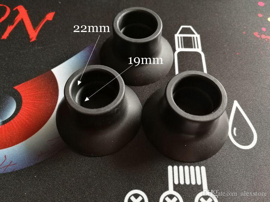 Silikon Standı Vantuz Kauçuk Taban Tutucu Vape Kalem Pil Ekran Büyük Siyah Enayi Için 19mm Için 22mm Tankı Mod DHL