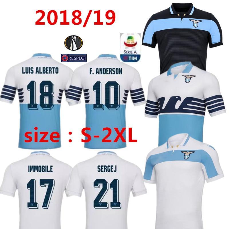 c9b363c96d5 ... 2019 thai quality 2018 2019 lazio soccer jersey 18 19 lulic immobile  sergej f.anderson