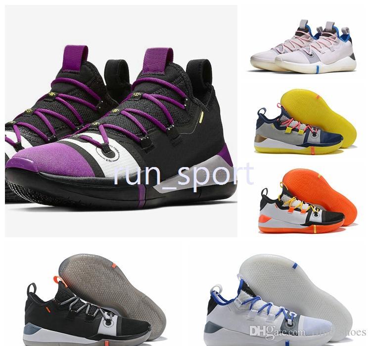 c0d8dd4b59d2f7 With Box Kobe AD Mamba Day EP Sail Multi Color Kobe Basketball Shoes  Designer 2018 Kobe Bryant Exodus Derozan Black Mens Sneakers 7 12  Basketball Shoe Men .