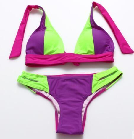 40e77fb720b Available Fashion Bikini Lady Collision Swimsuit Split Hot Spring Swimsuit  Belt Color Bright Colors Factory Sell Swim Wear Bikini Online with  $11.86/Piece ...