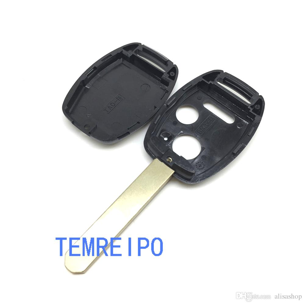 Remote Key Shell For Honda Accord Fit With Uncut Blade Car Key Fob Case USA Regulations