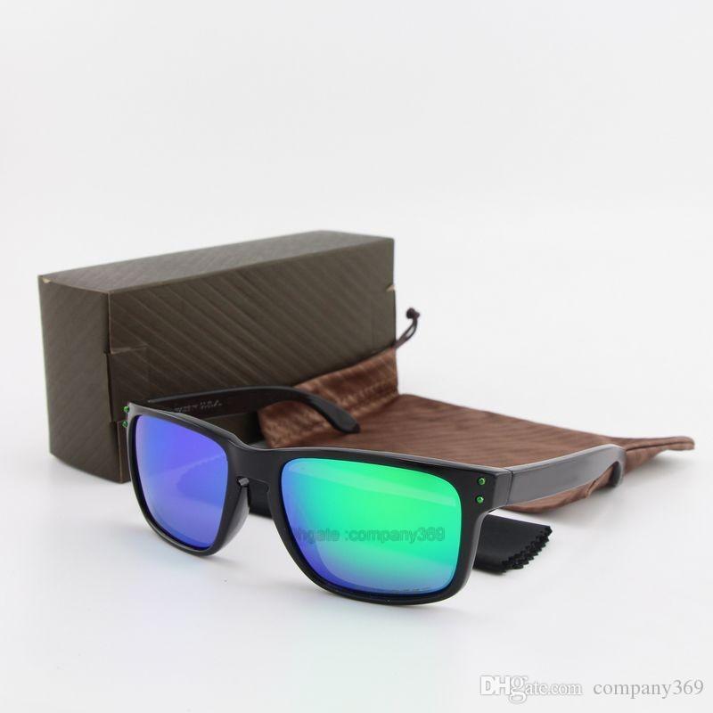 c301dfe46a Compre Envío Gratis 5 Unids Nuevo Top Gafas De Sol Marco De Plancha Verde  Espejo Lente Polarizada UV400 Deportes Gafas De Sol Moda Eyeglasse Con Caja  Marrón ...
