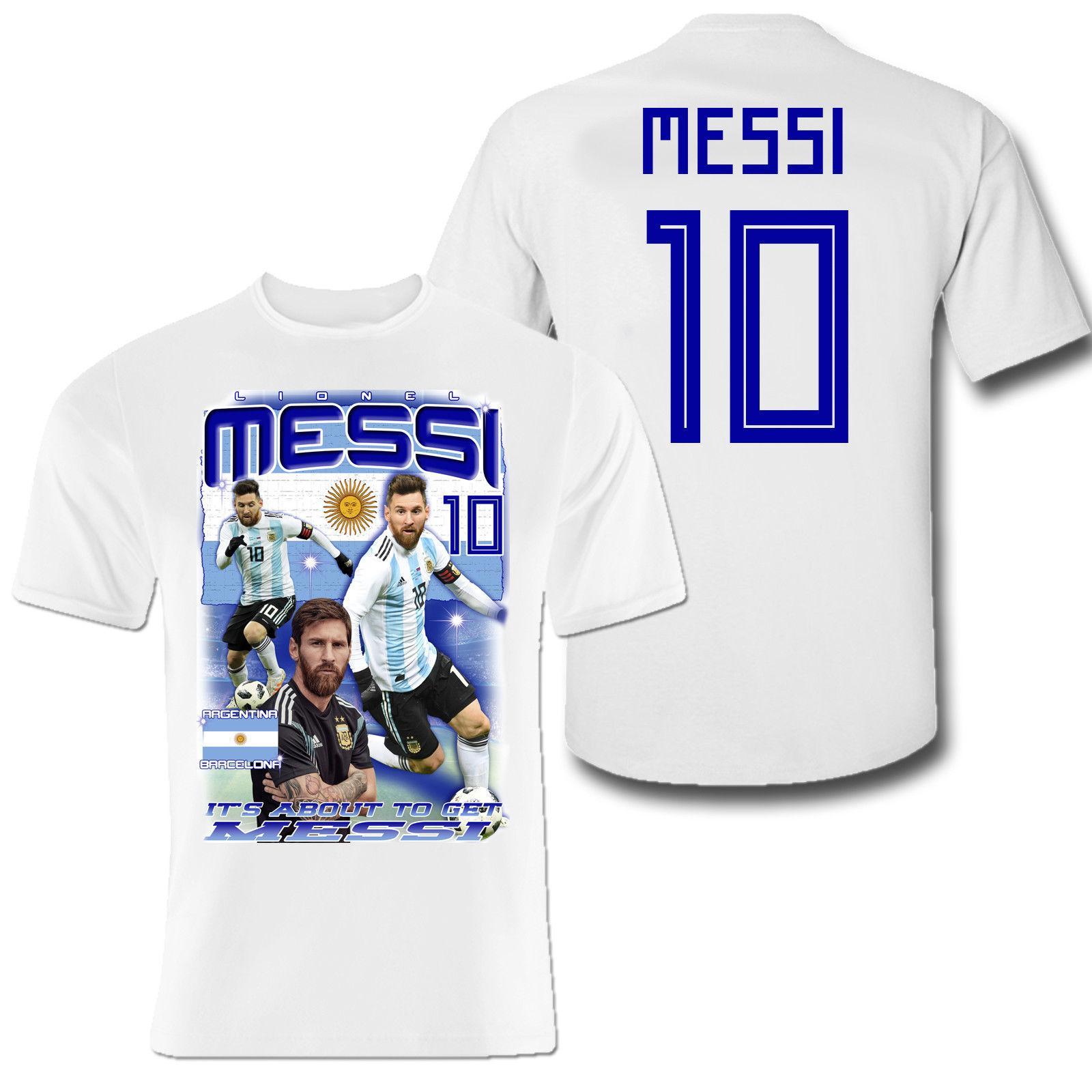 34fd24f6da Compre T Shirt Das Crianças Messi Frente Impressão De Volta Crianças  Argentina Barcelona 2018 Novo Tee Impressão Dos Homens T Shirt Tops Hip Hop  Curto ...