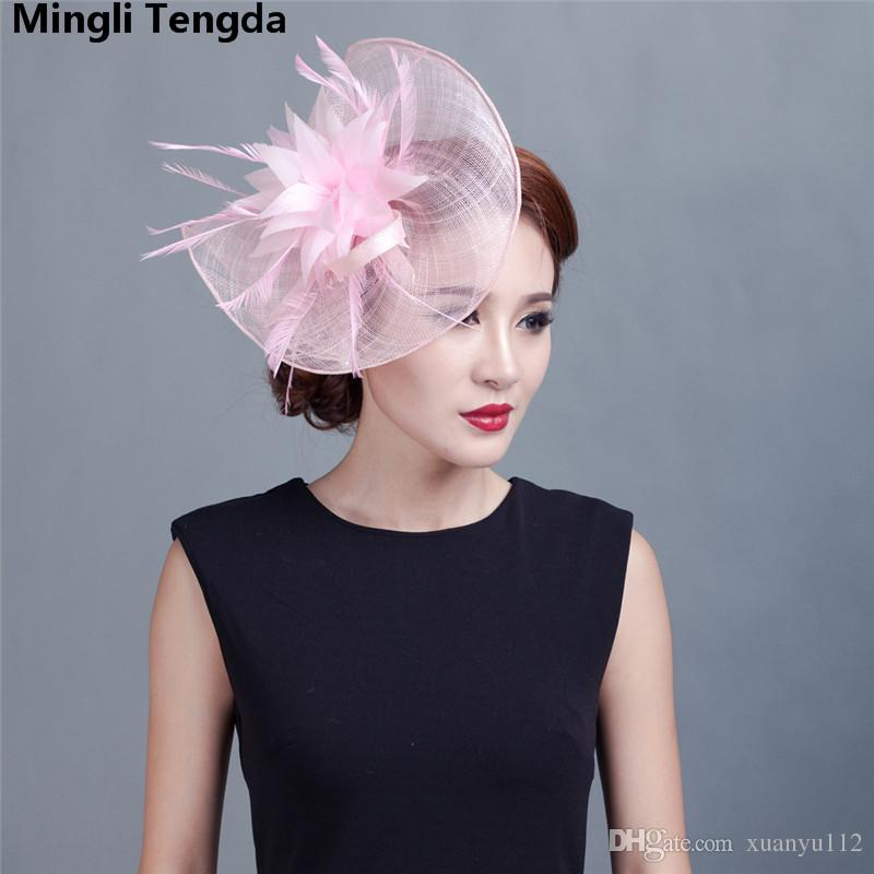 5100f43bab0 Bridal Hats Women Big Flower Feather Wedding Hat Special Shape Fashion Headpiece  Wedding Hats And Fascinators for Women Party Mingli Tengda Bridal Hat ...