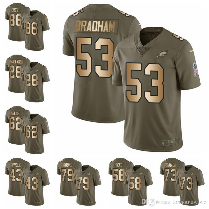 2018 Philadelphia Limited Football Jersey Eagles Olive Gold 2017 Salute To  Service 11 Carson Wentz 86 Zach Ertz 36 Jay Ajayi 86 From Ptbunion7 e98f2d26a