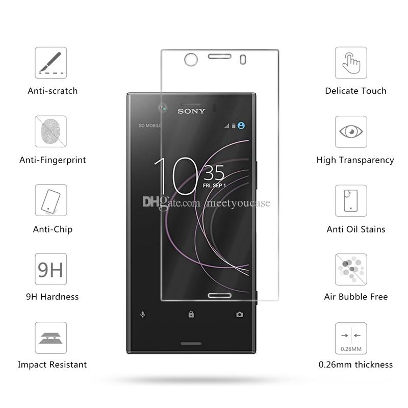 2 5D 0 26mm Premium Tempered Glass For Sony Xperia XZ1 Compact Screen  Protector Toughened protective film For Sony XZ1 Compact