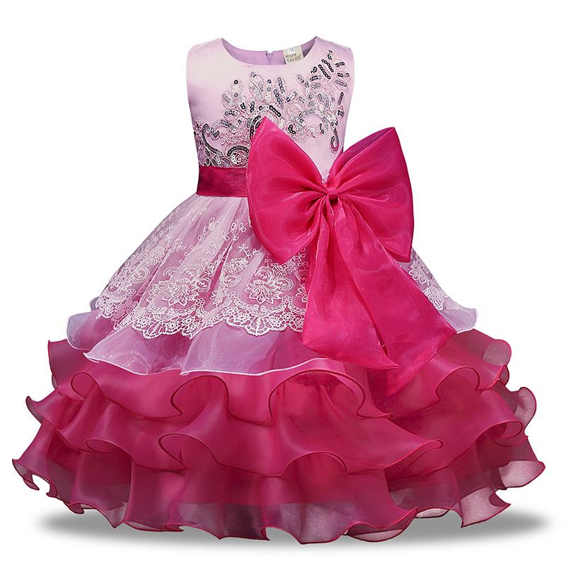 Baby Girl Dress Flower Girl Princess Dress Kids Baby Party Wedding Bridesmaid Pageant Birthday Tutu Baby Dress Kids Clothes