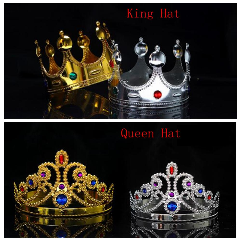 Cosplay Crown King Queen Royal Diamond Shiny Performance Hat For ...