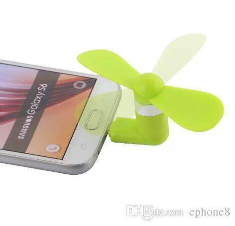 Mini Cool Micro USB Ventilateur De Téléphone Portable USB Fan Testeur De Téléphone Portable Pour type-c i5 Samsung s7 bord s8 plus