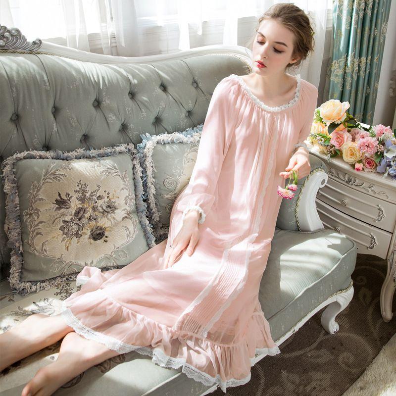 reputable site 716a6 e68ac Plus Size Modal Chiffon Sleeping Dress Home Nachtwäsche Damen Nachtwäsche  Damen Nachthemden Sleep Girls lange Nachthemd