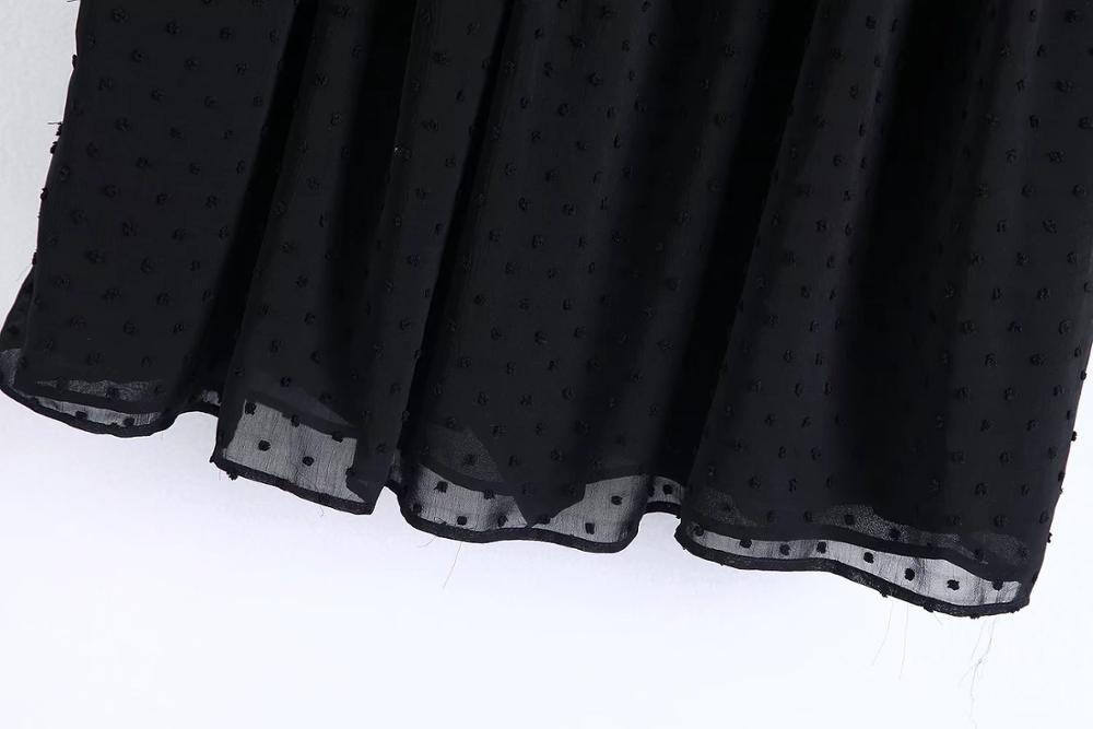 Cheshanf suelta negro floral gasa bordado Playsuits mujeres 2018 bordado sin espalda de verano mono corto ahueca hacia fuera nuevo