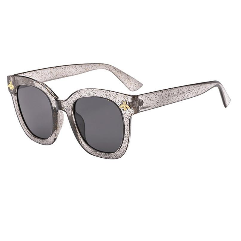014679f560 2018 Women Man Vintage Bees Sunglasses Retro Big Frame Eyewear ...