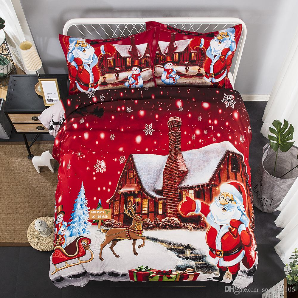 American And European Style Christmas Bedding Set One Duvet Cover ...