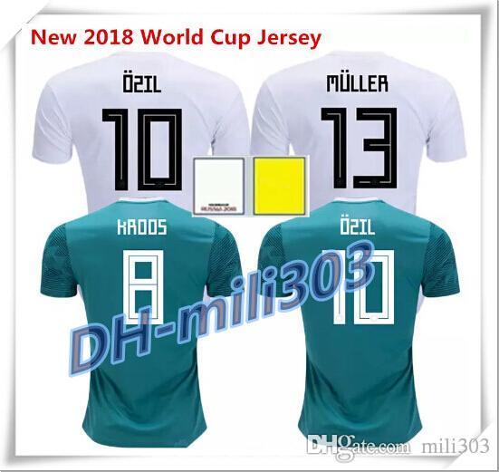 50d4ba880 2019 Op Thai Quality 2018 Germany Home Soccer Jersey 18/19 World Cup  Football T Shirt MULLER OZIL GOTZE KROOS BOATENG REUS Away Football Shirt  From Mili303, ...
