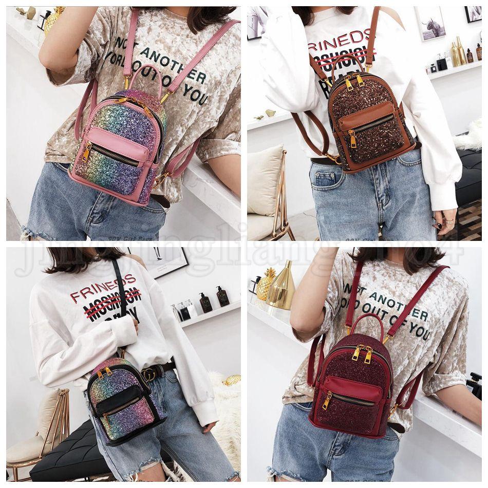 ... Women Girl Bling Zipper Mini Bags Travel Casual School Shoulder Bags  Kids Small Backpacks OOA5214 Large Backpacks For School Cute Cheap Backpack  From ... 9755ac0b67f90