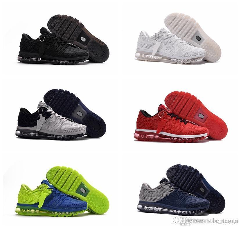 new product f2de5 11b5c Acheter Chaussures Nike Air Max 2017 Haute Qualité Max2017 Nouvelle Arrivée  Hommes Chaussures Hommes Sneaker Maxes 2017 Hommes Course Sport Chaussures  Maxes ...