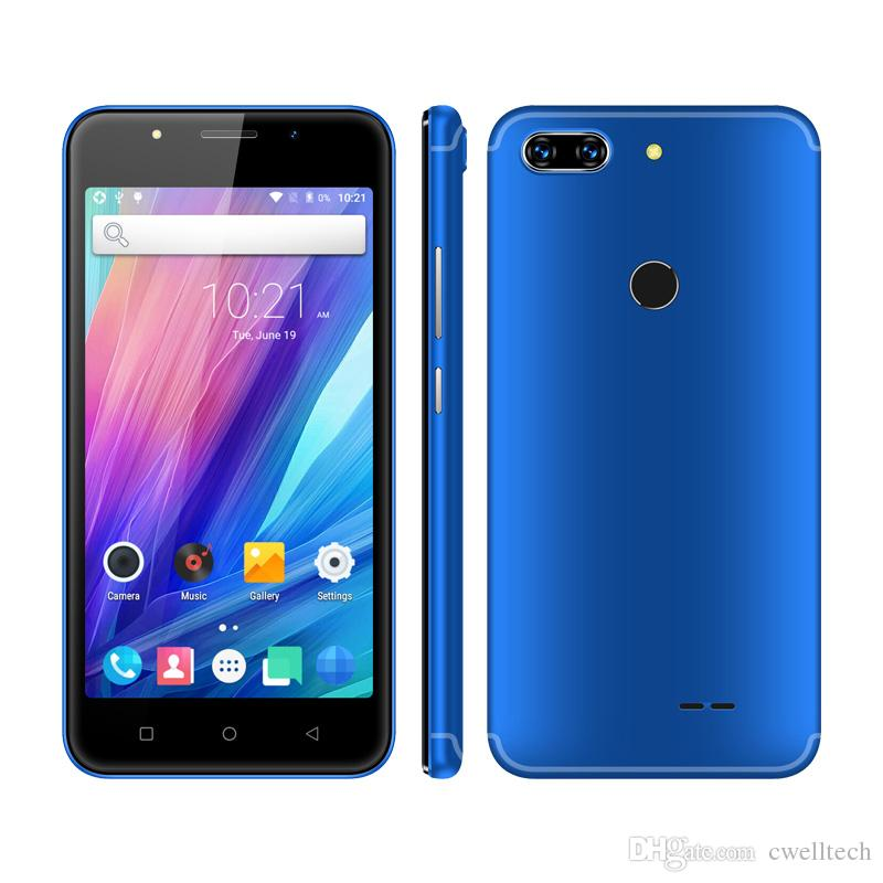 New Arrival Cell Phone Alps V5 5 Inch MTK6580 Quad Core Fingerprint Unlock  GPS WIFI Cheap Android Smartphone