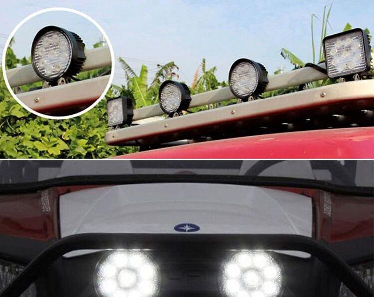 Shipping by DHL 27W Car LED Offroad Work Light Bar for Jeep 4x4 4WD AWD SUV ATV Cart Driving Lamp Motorcycle Fog Light