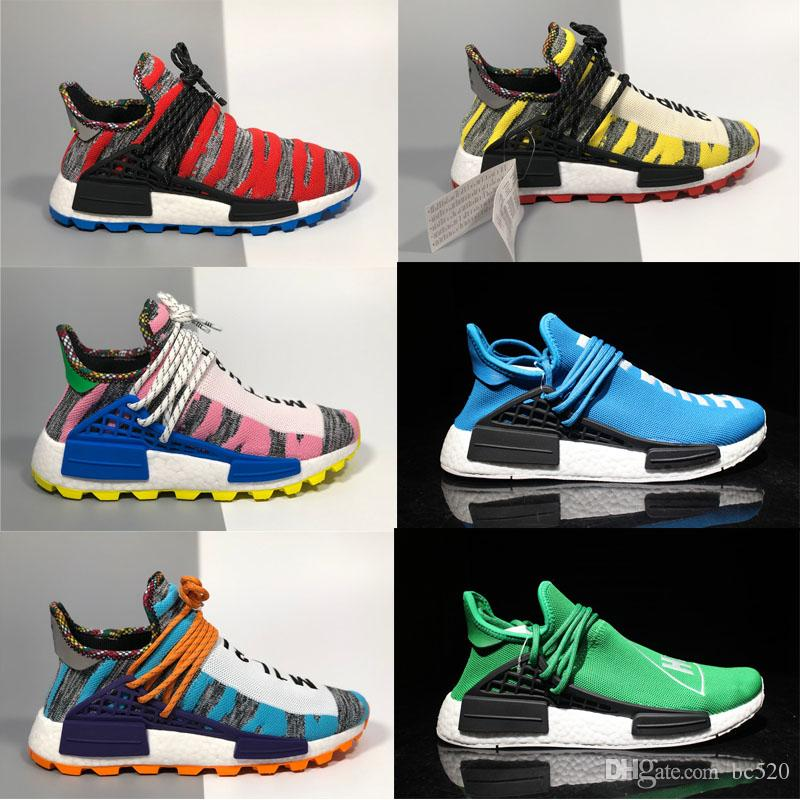 new products 564e0 d2057 2018 new pharrell williams human race nmd men women sports Running shoes  black white grey nmds primeknit PK runner XR1 R1 R2 Sneakers