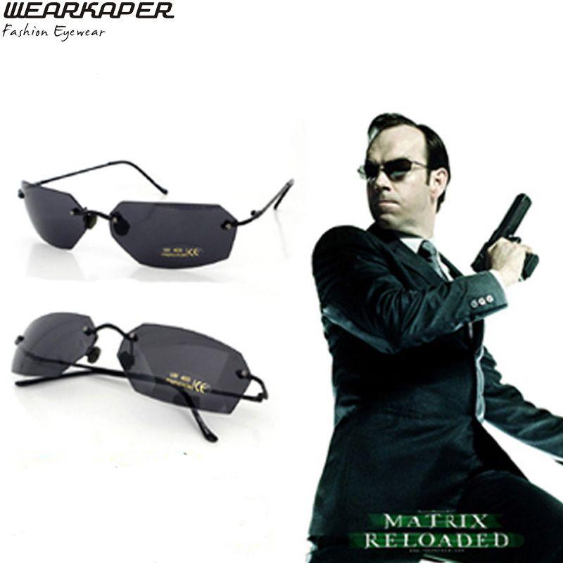 22db19b42e5e WEARKAPER Rimless Classic Oval Glasses Matrix Morpheus Sunglasses Movie  Sunglasses Men UV400 Oculos De Sol Glasses Frames Glasses Online From  Haydena