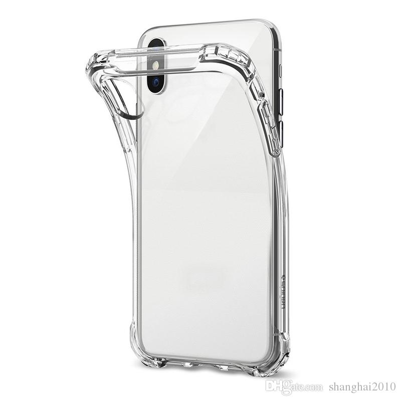 Ultra-Thin TPU Case pour NOUVELLE XR XS MAX Étui transparent en silicone souple antichoc transparent