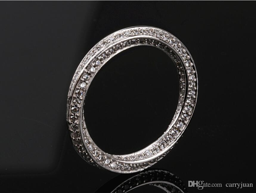 e7d7da87698 2019 Mobius Strip Rings Stunning Wholesale Luxury Jewelry 925 Sterling  Silver Tiny White Sapphire Party Twist Women Wedding Pave Band Ring Gift  From ...