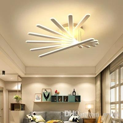 Modern Aluminum Ceiling Lamp Led Ceilingchandelier Lighting Living Room Bedroom Ceiling Lamps Fixtures Avize Luminaire Luxury Lights & Lighting Ceiling Lights & Fans