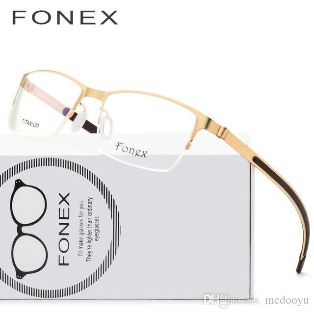 a3d02bbcd1 Titanium Glasses Frame Men Ultralight 2018 Women Square Myopia Prescription  Eyeglasses Korean Screwless Eyewear Optical Frames 981 Titanium Glasses  Glasses ...