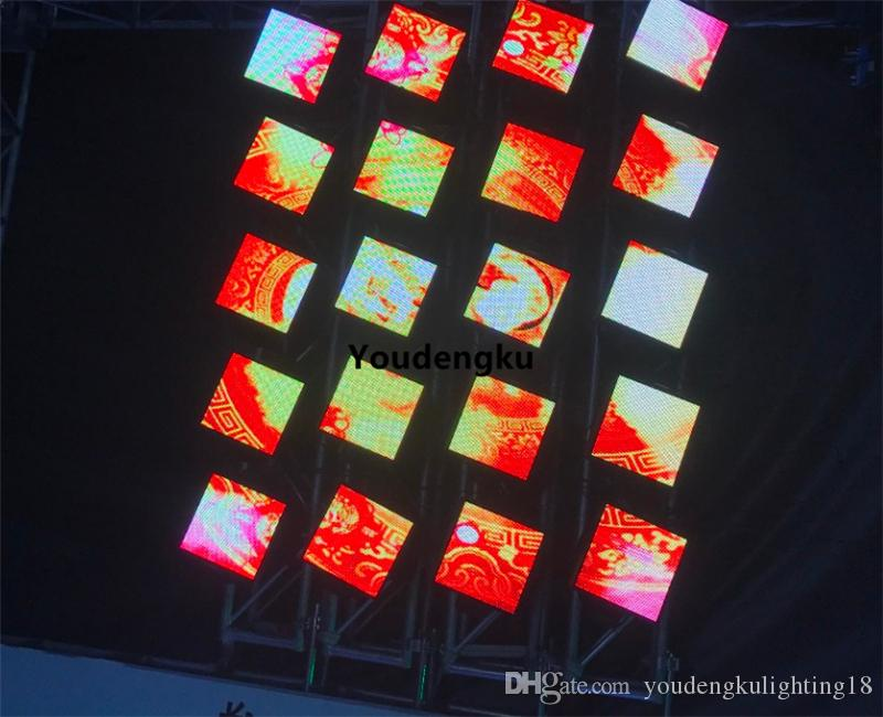 2 pezzi Pro Stage Disco DJ RGB Full Color P5 64x64 Pixel Dot Matrix Display a LED Modulo Schermo Video a testa mobile