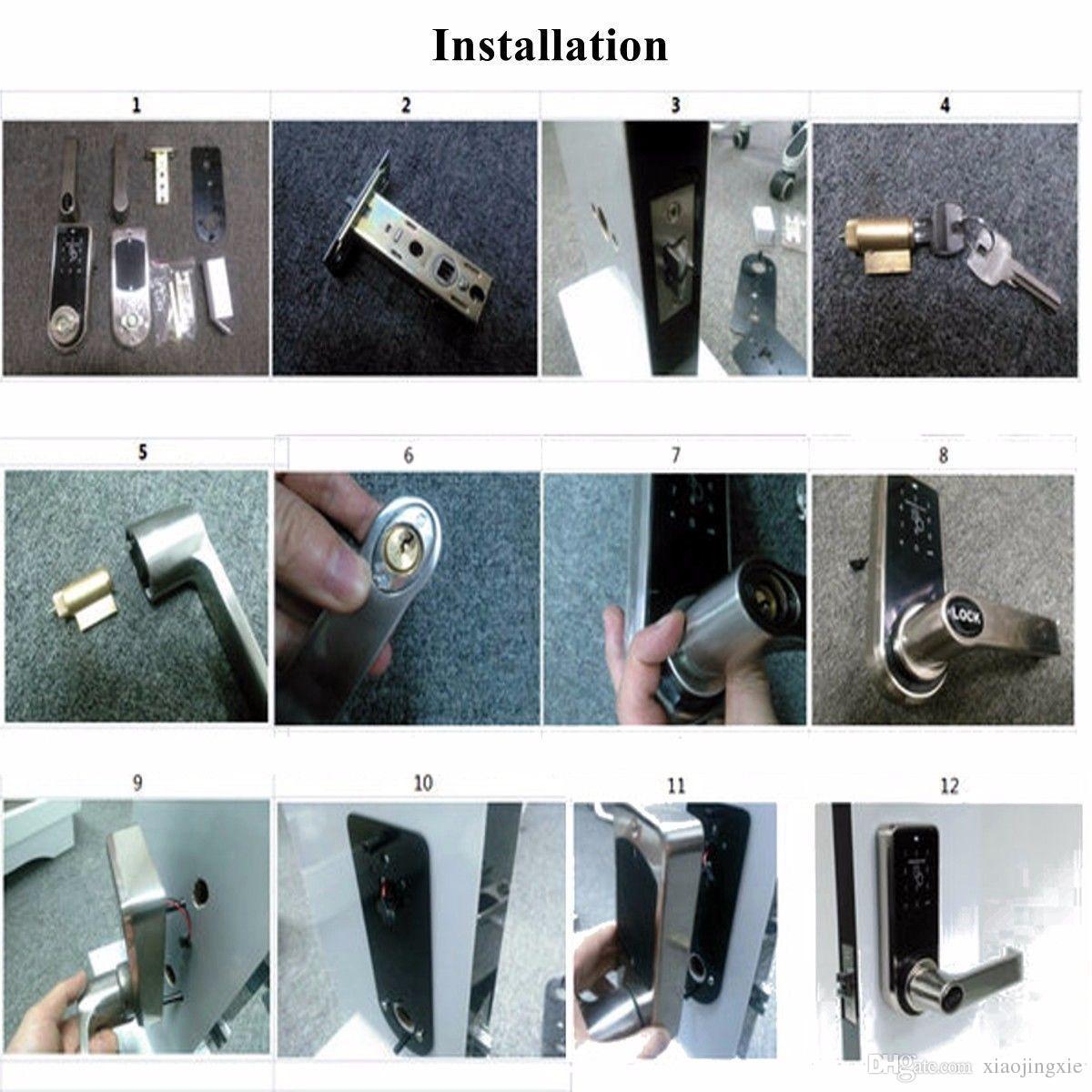 2018 Smart Digital Keyless Electronic Code Door Lock RFID Entry Secure Handle Intelligent + 6 RFID Card Tag