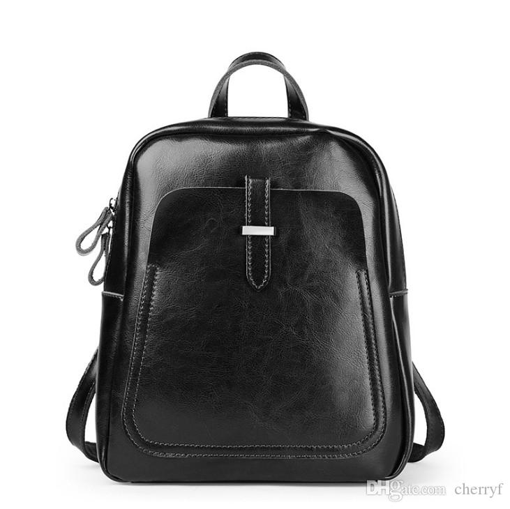c580080062a8 Real Leather Backpacks Vintage Double Shoulder Bags for Women New Arrival  Wholesale Cowhide Travelling Bag