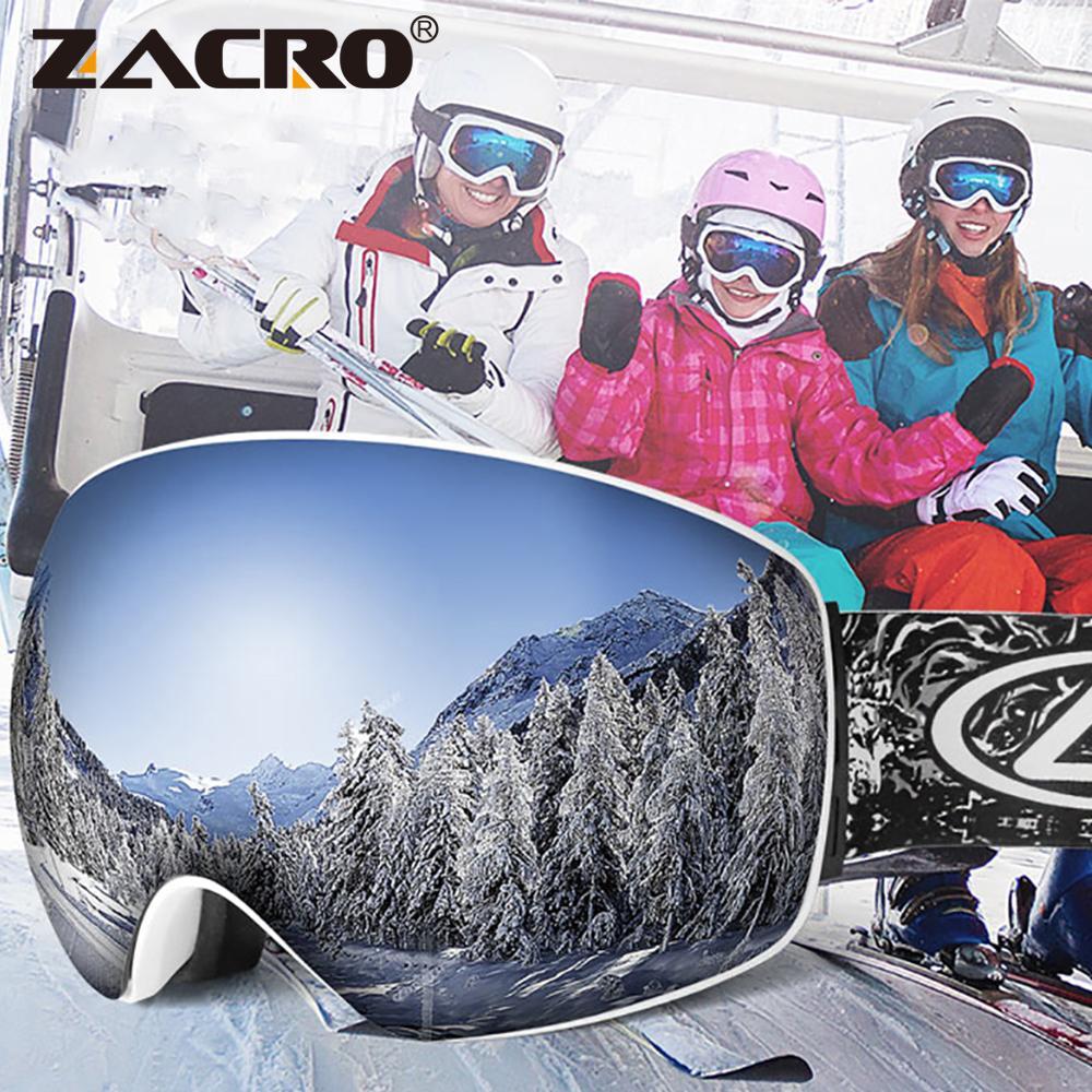 Compre Zacro Óculos De Esqui UV400 Óculos De Esqui Óculos De Esqui  Snowboard Homens Mulheres Óculos De Neve Óculos De Sol Da Neve Googles  Máscara De Peniss, ... 0735c2193b