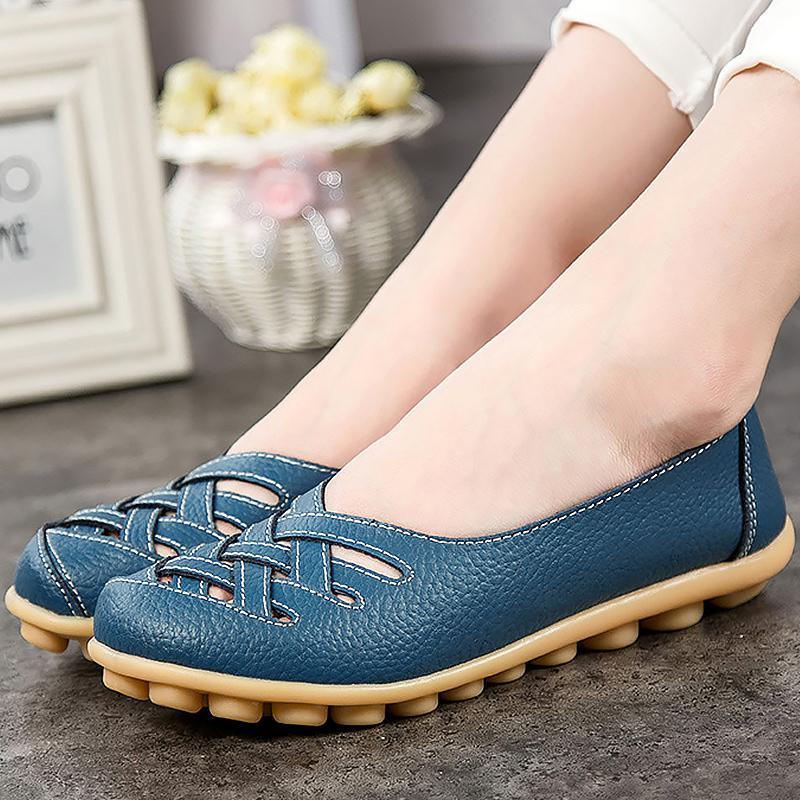 098ec497fce15 Acheter 2019 Casual Chaussures Pour Femmes Pig Leather Flat With Superstar  Grande Taille 34 44 Chaussures Oxford Pour Femmes