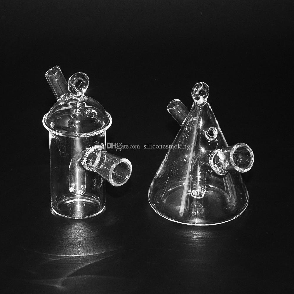 4.0 pulgadas de altura Blunt Bong Conjuntador de vidrio Blunt Blunt para tubos de agua de viaje Tubería pequeña venta caliente nuevo 2017 burbuja de vidrio Blunt tips envío gratis
