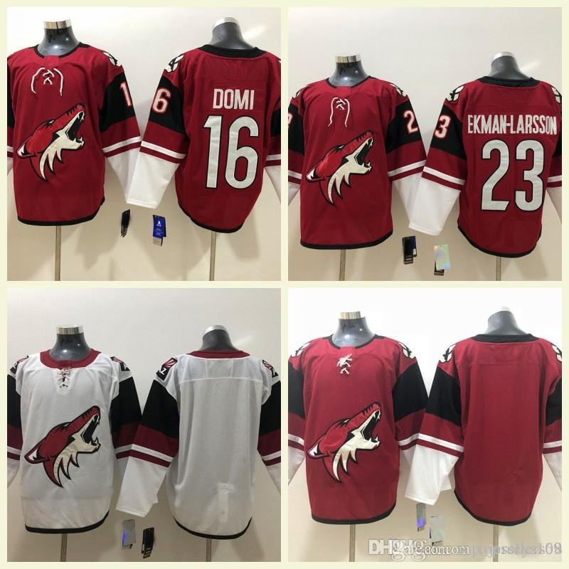 8e22d9ee300 2019 2018 Mens 16 Max Domi 23 Oliver Ekman Larsson Red White Authentic  Stitched Blank Hockey Jerseys S 3XL Arizona Coyotes Jersey From  Top_jerseys168, ...