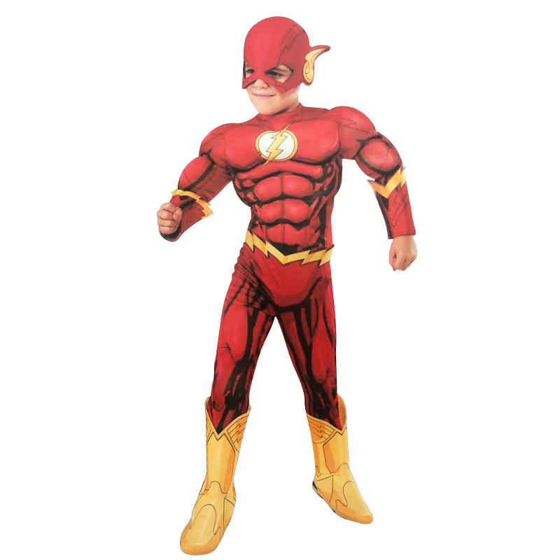 6013d2b52 The Flash Muscle Fancy Dress Kids Fantasy Comics Movie Carnival Party  Halloween Flashman Cosplay Costumes Girls Group Halloween Costumes  Halloween Costumes ...