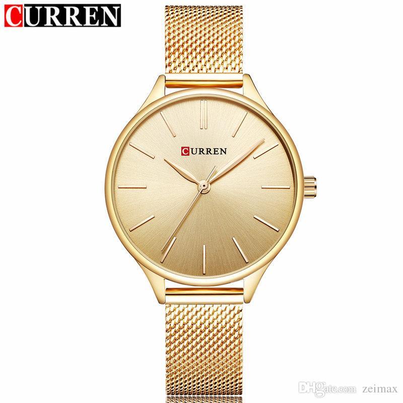 58cd49dc0fae CURREN LUXURY GOLD Women s Quartz Watch Fashion Casual Dress Brand ...