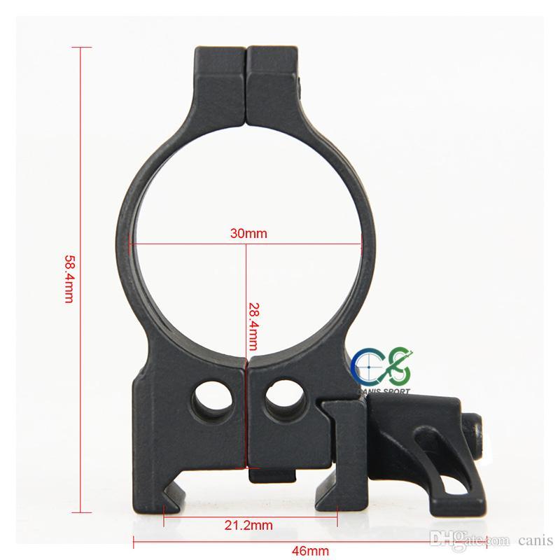 Rifle Ring Scope Mount Black Color Diameter 1.18inch Fits 21.2mm QD 30mm Set of 2 CL24-0182