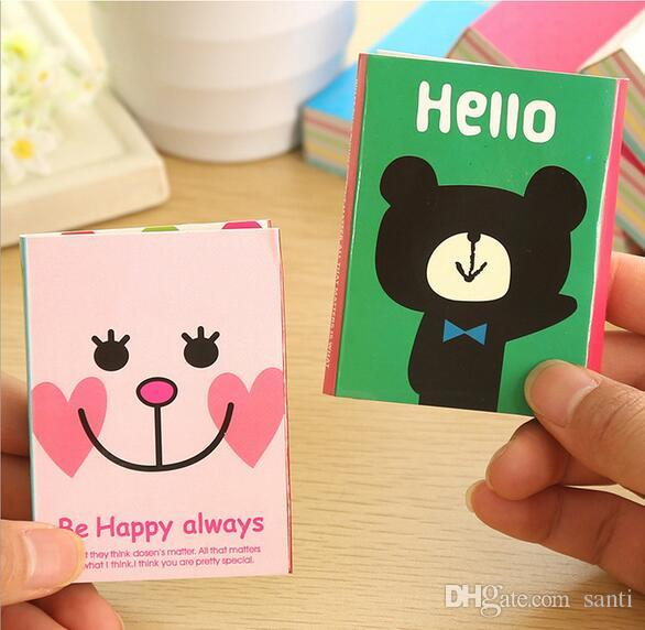 Notes Notepads Hot 180 Pages Sticker Mini Animal Sticky Notes 4 Folding Memo Pad School Stationery