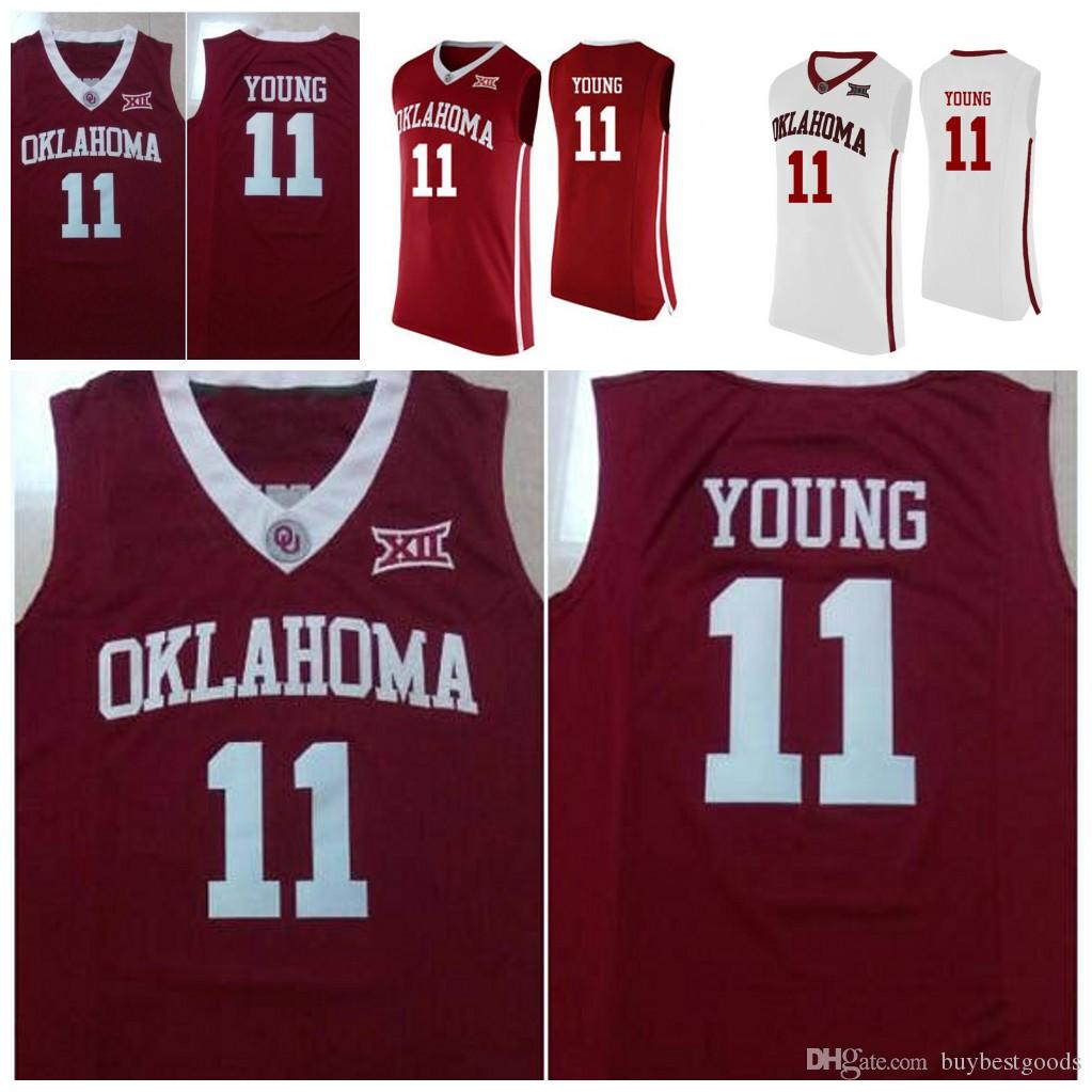 Men Oklahoma Sooners  11 Trae Young NCAA College Basketball Jerseys  Stitched White Red Trae Young Oklahoma Sooners Sooners Young Online with   24.05 Piece on ... ce25de6d0
