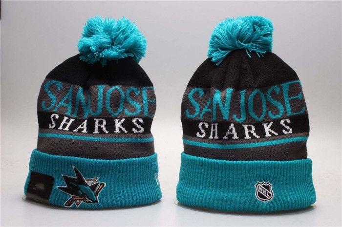 58c9d835239 2018 New San Jose Sharks Sports Knitted Beanies Winter Warm Skull ...