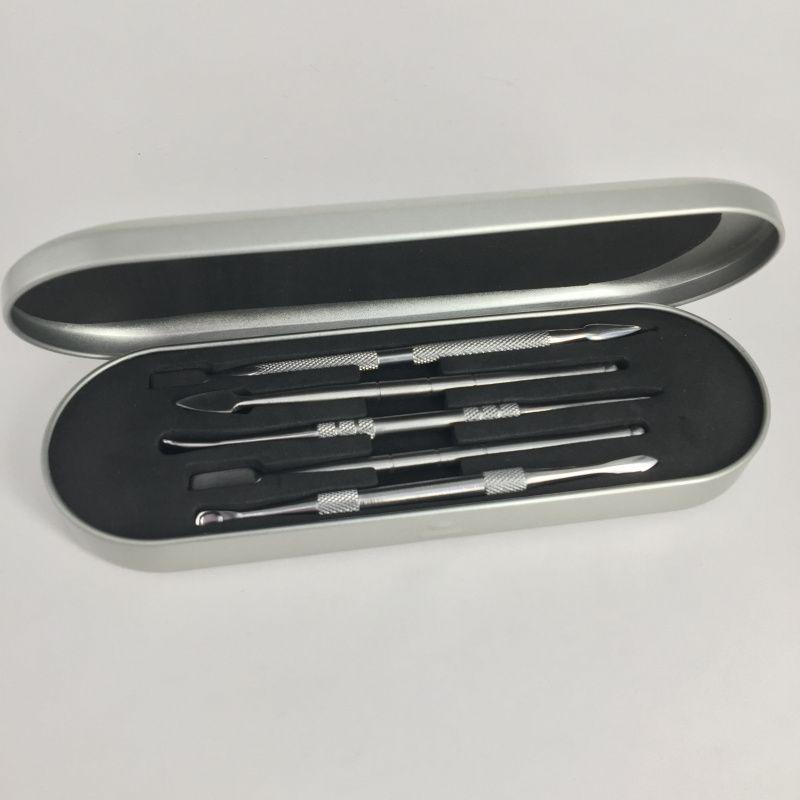 Dab Tool Kit Wax Dabber Tool Set 106-121mm Aluminium Box Packagingfor Dry Herb Vaporizer Pen Wax Atomizer Titanium Nail Dabber Tool