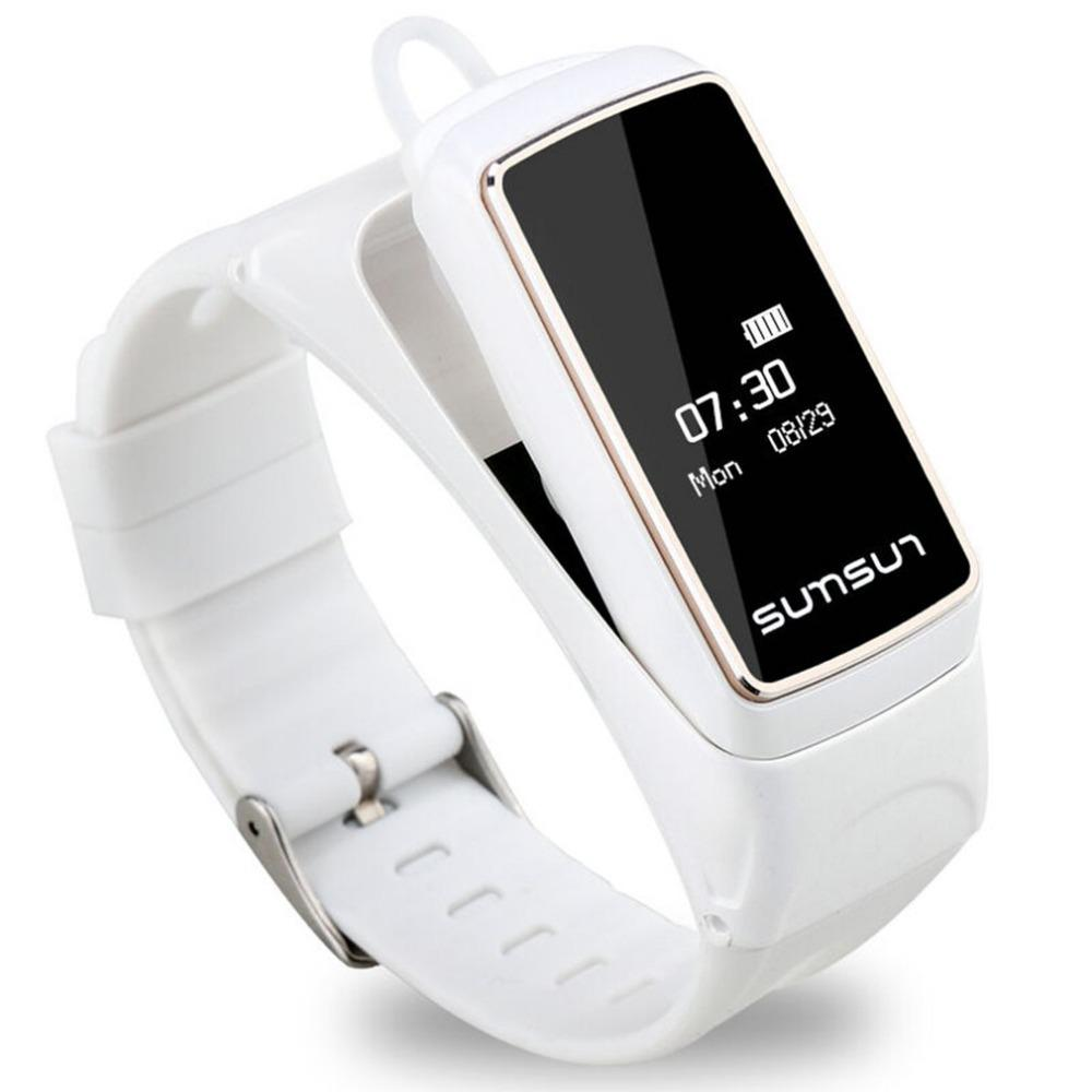 B7 Bluetooth Smart Band Heart Rate Monitor Smart Watch Sport Health Bracelet Talkband With Music Player Answer Call