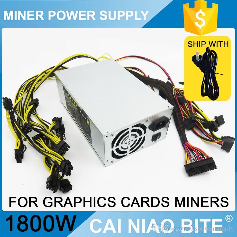 Eth Zcash Sc Miner Gold Power 1800w Btc Power Supply For Rx 470 /570 ...