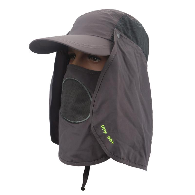 bd492272eaf Lumiparty Sun Hat Uv 50 +Protection Outdoor Flap Cap With Removable Sun  Shield And Mask For Fishing Hiking Garden Sun Shield Mask UK 2019 From  Sport2017