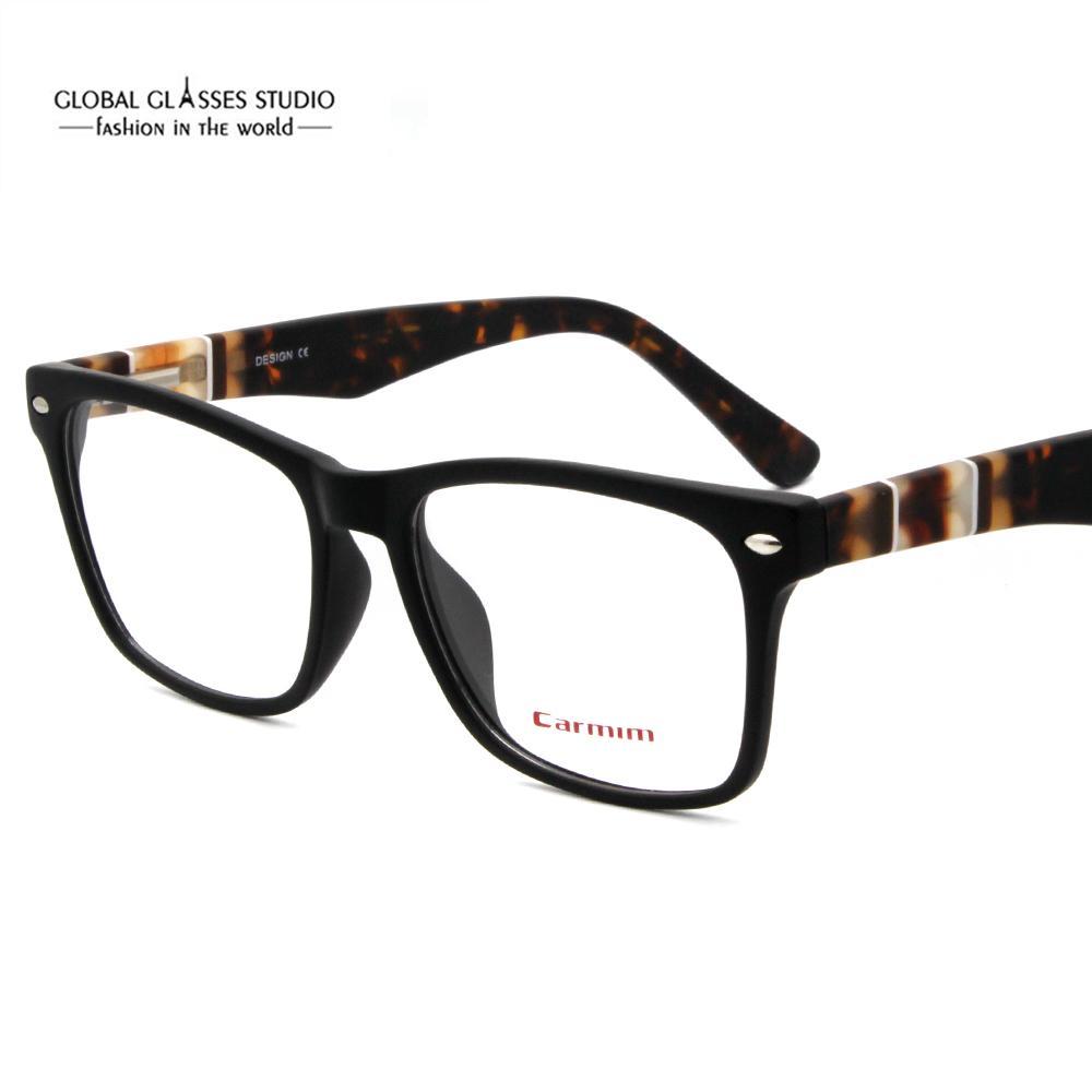07c913c72d2d 2019 Hand Made Acetate Eyeglasses Frames Fashion Lady Men New Designer Demi  Black Eyewear Glasses CMG7068 From Onlycloth