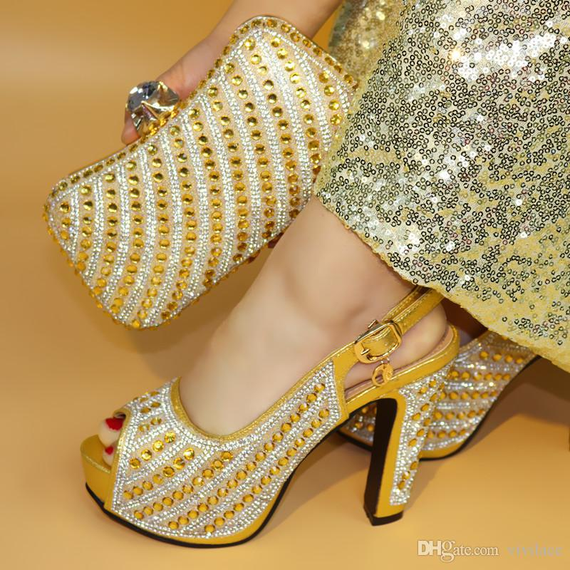 17041703 Latest Design Italian Shoes And Bags Set to Match High ... 33fe5e94f617