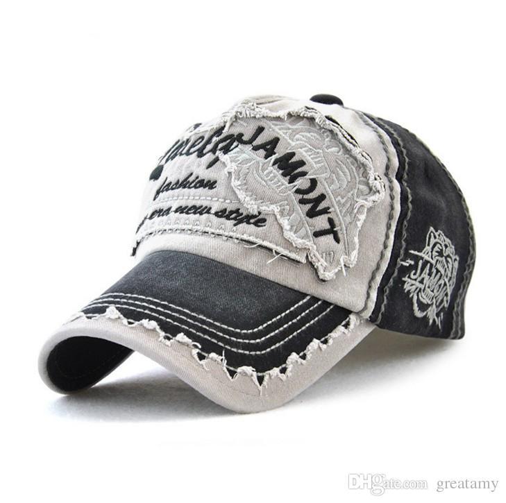 Classic embroidered patchwork cotton baseball cap adjustable strapback golf sun hat curved visor snapback caps