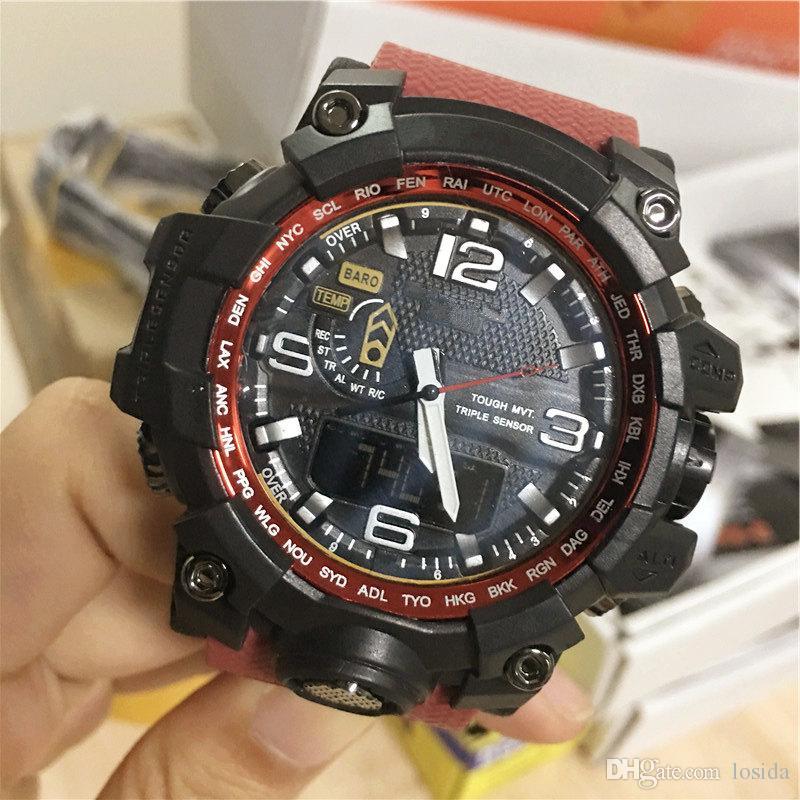 Digitale Uhren Luxus Männer Sport Digitale Uhr Stunden Für Laufen Schwimmen Militär Uhren Casual Elektronik Armbanduhren Uhren Modernes Design