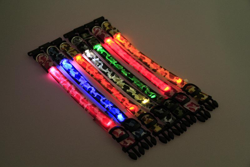 Collare di cane luminoso multicolore di notte di sicurezza di collare del collare principale ricaricabile USB dell'animale domestico